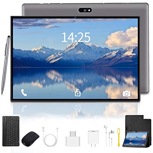 10.1 inch Tablet Android 9.0 Go Tablets 1280×800 IPS HD Display with Wireless Keyboard Case Quad-Core 1.3Ghz Processor…