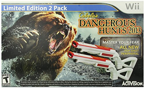 Cabelas Dangerous Hunts 2013 with Double Gun | Nintendo Wii (Duck Hunt With Zapper)