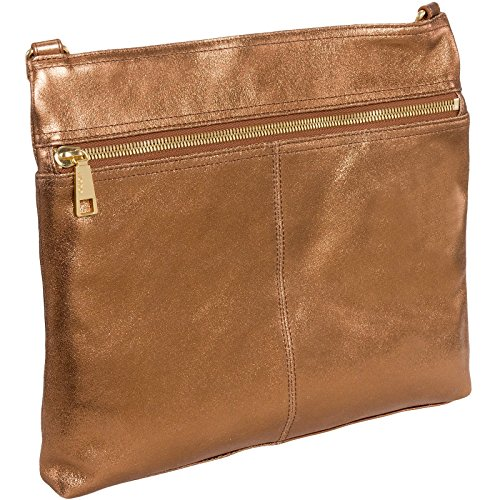 Hobo Womens Genuine Leather Lorna Crossbody Shoulder Bag (Copper) - Copper Womens Handbag