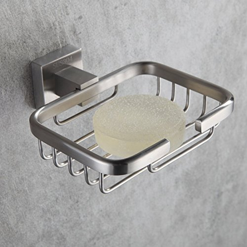 Fapully Soap Dish Stainless Steel Bathroom&Kitchen Shower Soap Holder Toilet Soap Saver Wall Mount Brushed Nickel (Shower Soap Bathroom)