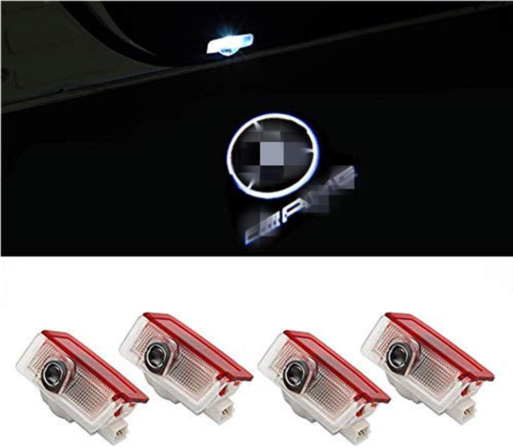HD voiture Porte lumi/ère LED Entr/ée /Éclairage QJZoncuji 4 Xvoiture de porte Logo /Éclairage For E for 4 E