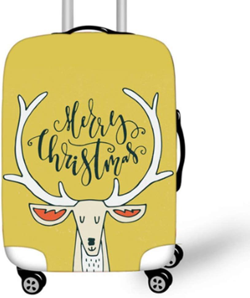 YI'HUI Cute Christmas Elk Impreso Accesorios De Viaje Funda Protectora De Equipaje Feliz Año Nuevo Diseño De Ciervo Equipaje Decorativo Bolsa De Viaje Set Funda Antipolvo