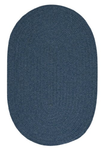 Bristol Polypropylene Braided Rug, 3-Feet by 5-Feet, Federal Blue Blue Braided Wool Rug
