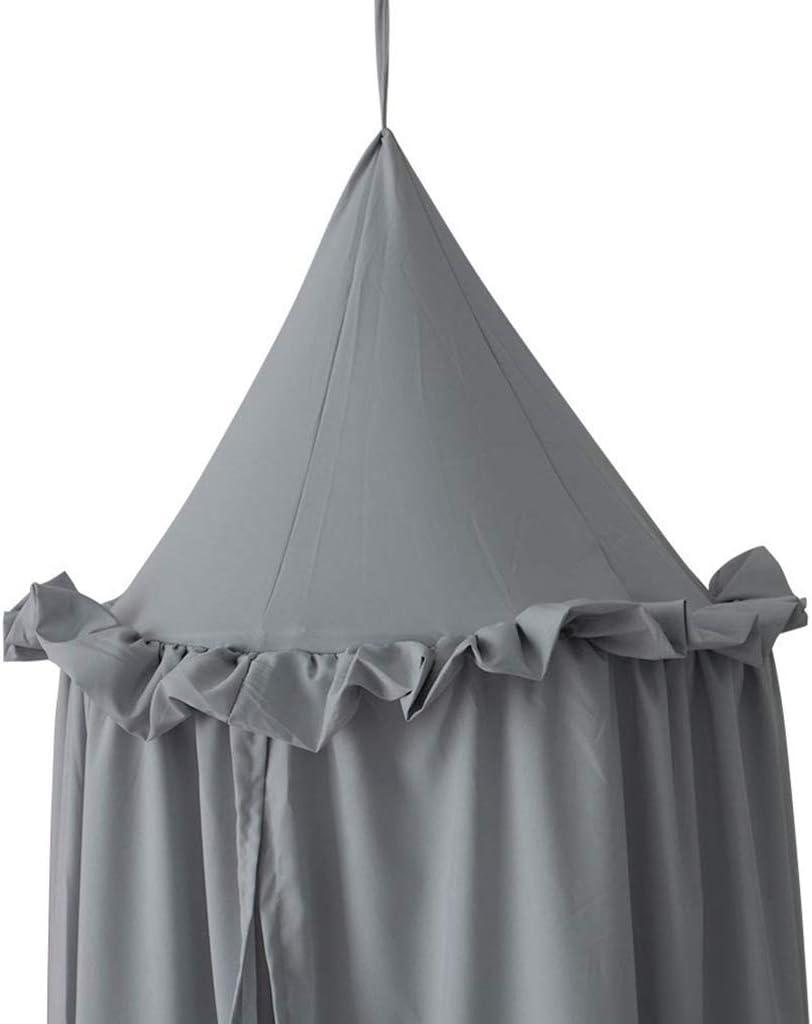 Ciel de lit pour Enfant Moustiquaire de Coton denfant Moustiquaire pour lit enfants jouant//lecture Rose filet pour rideaux en forme de d/ôme Moustiquaire ciel de lit Tente de lit
