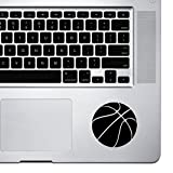 StickAny Palm Series Basketball Simple Sticker for Macbook Pro, Chromebook, and Laptops (Black)