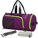 kilofly Foldable Ultra Light Sport Backpack Duffel Gym Bag + Quick Dry Towel Set