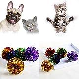 SHINNY Crinkle Crackle Farbige Kugeln Spielzeug für Katzen Kätzchen Pet zufällige Farbe