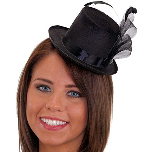 Pearl Feather Black Mini Hat product image