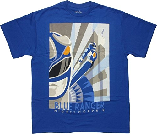 Power Rangers Blue Ranger Art Deco Men T-shirt
