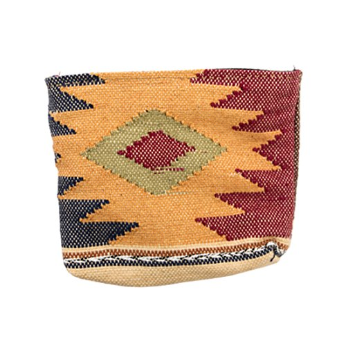 Guatemalan Native Comalapa Canvas Coin Pouch Handmade by Hide & Drink :: Sunset
