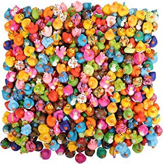 Kangaroo's Rubber Duck Bath Toy Assortment (100-Pack)