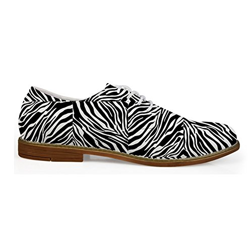 Hugs Idea Serpentine Pattern Mens Fashion Oxford Dress Shoes Zebra