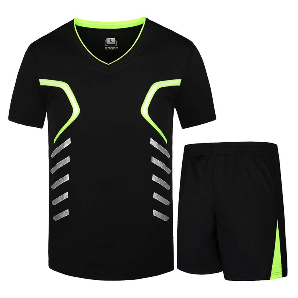 Herren Kurzarm Shorts Sport Set, 2019 Neue Outdoor T-Shirt Shorts Set, Schnelltrocknende Atmungsaktive Sport Fitness Laufbekleidung