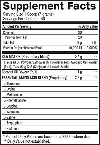 BPI Sports Cla + Coconut Oil + Aminos Non Stimulant Fat Loss Supplement Powder