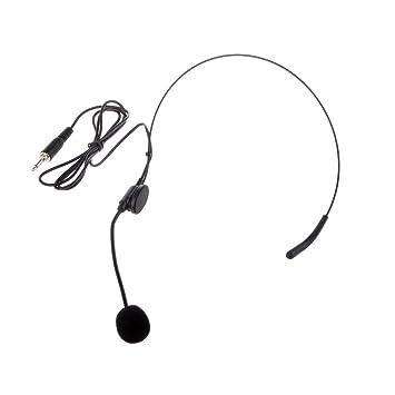 Andoer Einseitiger Weg Kopfmontages Kopfbügel Headset Mikrofon Mic Flexibler