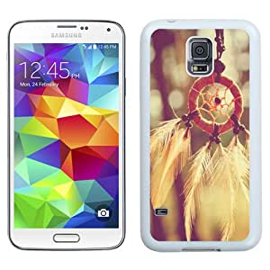 Beautiful Designed Antiskid Cover Case For Samsung Galaxy S5 I9600 G900a G900v G900p G900t G900w Phone Case With Dreamcatcher Feathers Closeup_White Phone Case