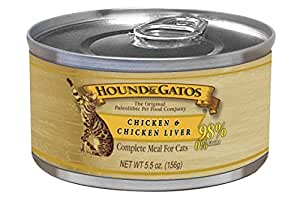 HOUND & GATOS PET FOOD Chicken Formula Canned Cat Food, 5.5 oz, 24-Pack