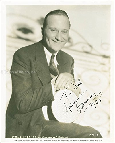 Lynne Overman - Inscribed Photograph Signed 1938