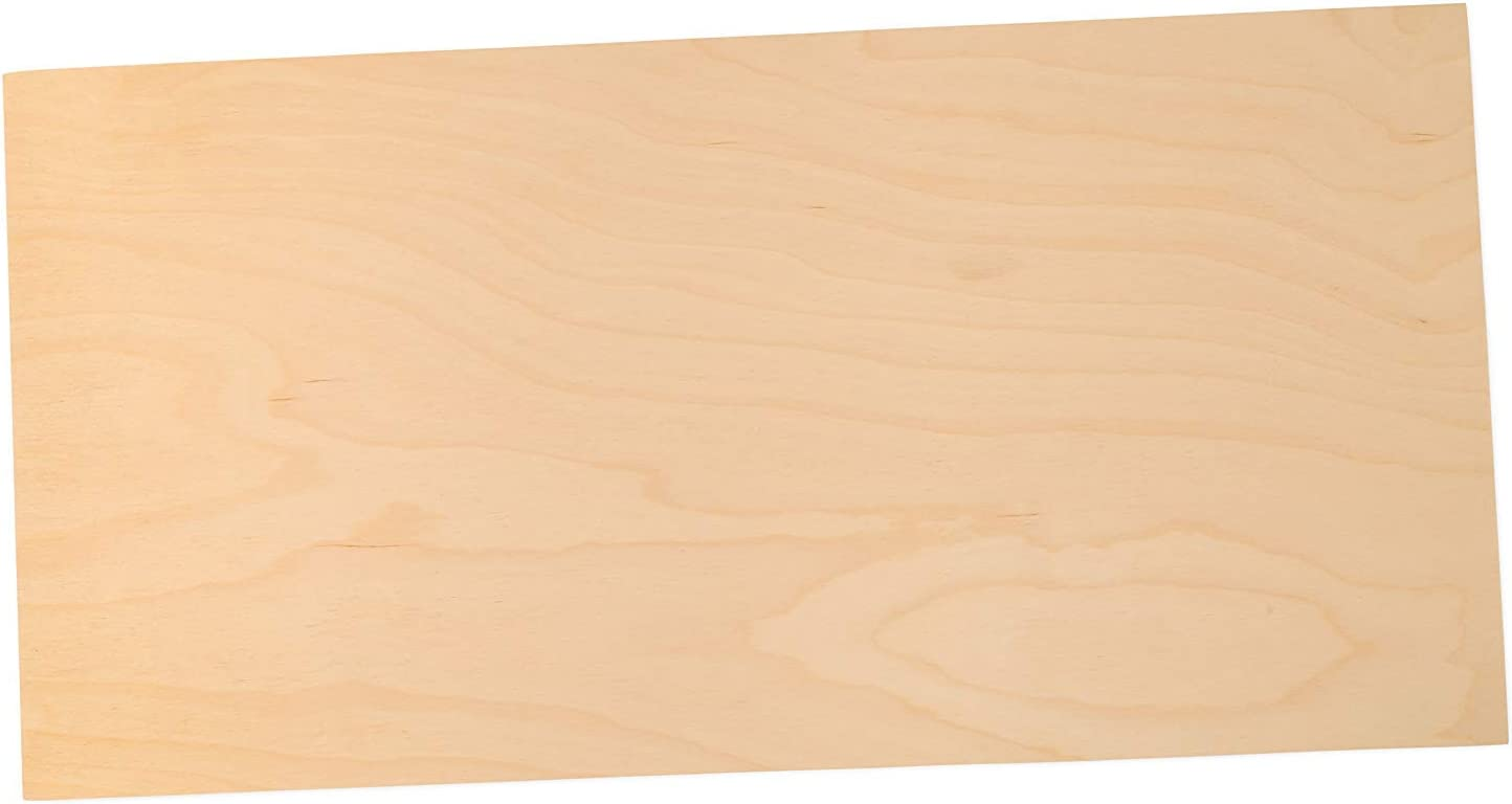 3 mm 1/8 x 6 x 12 Inch Premium Baltic Birch Plywood, Box of 8 Flat B/BB Grade Birch Veneer Sheets, Perfect for Laser, CNC Cutting and Wood Burning by Woodpeckers