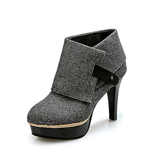 HSXZ Women's Shoes Nubuck leather Rubber Winter Slingback Fashion Boots Boots High Heel Pointed Toe Booties/Ankle Boots Buckle for Office ZHZNVX