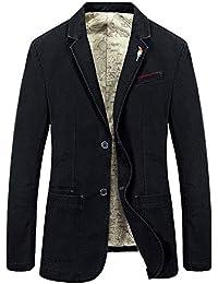 Men's Travel Stretch Slim Fit Casual Suits 2-Button Flap Pockets Solid Blazer Jacket