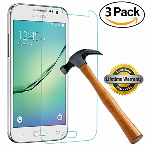 Galaxy Core Prime Screen Protector, SOOYO(TM) Premium Tempered Glass Screen Protector (2.5D Round Edge/99% Clarity/Shatter-Proof/Bubble Free) for Samsung Galaxy Core Prime [Lifetime Warranty]-[3Pack]