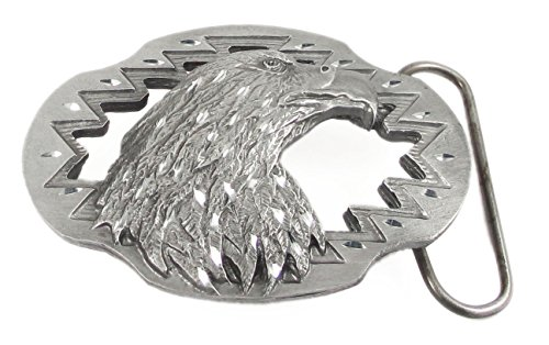 Pewter Belt Buckle - Eagle (Diamond Cut and Cutout)