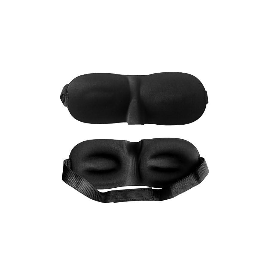 3D Blackout Travel Sleeping aid Eye Mask Sleeping Insomnia Velcro Blindfold Heavy Duty Light Goggles