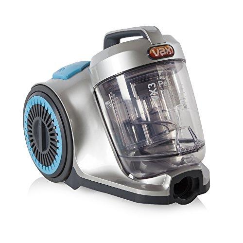 Vax VRS2041 VX3 Pet Cylinder Vacuum Cleaner, Cyclonic Technology - Silver