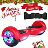 Sea Eagle Hoverboard Self Balancing Scooter Hover Board for Kids Adults with UL2272 Certified,Wheels LED Lights and Free Portable Carrying Bag (Red)