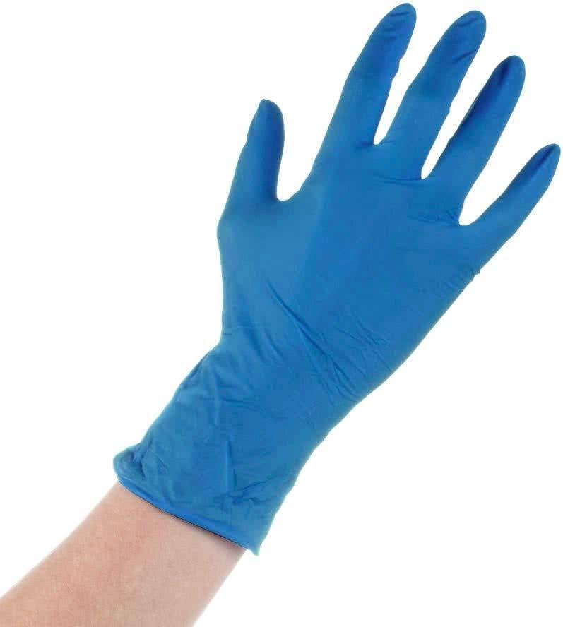 1 unidad Tecnopacking Caja de 1000 Guantes Vinilo Azul Sin Polvo T-L