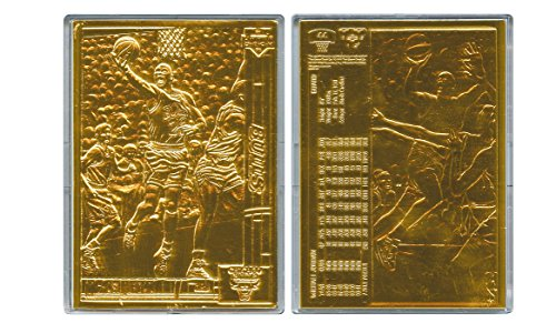 MICHAEL JORDAN 1991-92 Upper Deck #44 BRONZE METAL Card Limited 24KT GOLD PLATED (Card Edition Bronze Limited)