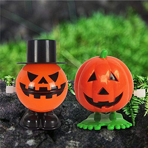 Party Diy Decorations - 12pcs Halloween Wind Up Jumping Smile Face Pumpkins Toy Holiday Party Favor Children Educational - Decorations Party Party Decorations Audi Radiator Nude Pencil Decor Hall