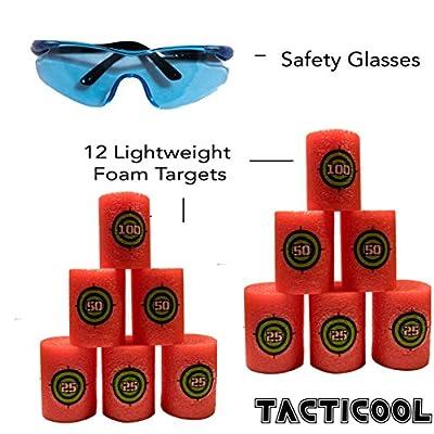 Tactical Blue Camo Vest Kit for Nerf Guns N-Strike Elite Series (Includes Vest, 12 Foam Targets, Safety Glasses, and 200 Extra Bullets)