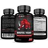 Brute Test Testosterone Booster for Men-Gold Label-Extreme Strength, Endurance, Sexual Libido, and Rapid Fat Loss Premium Quality-30 day cycle-Made in USA-Safe and Powerful