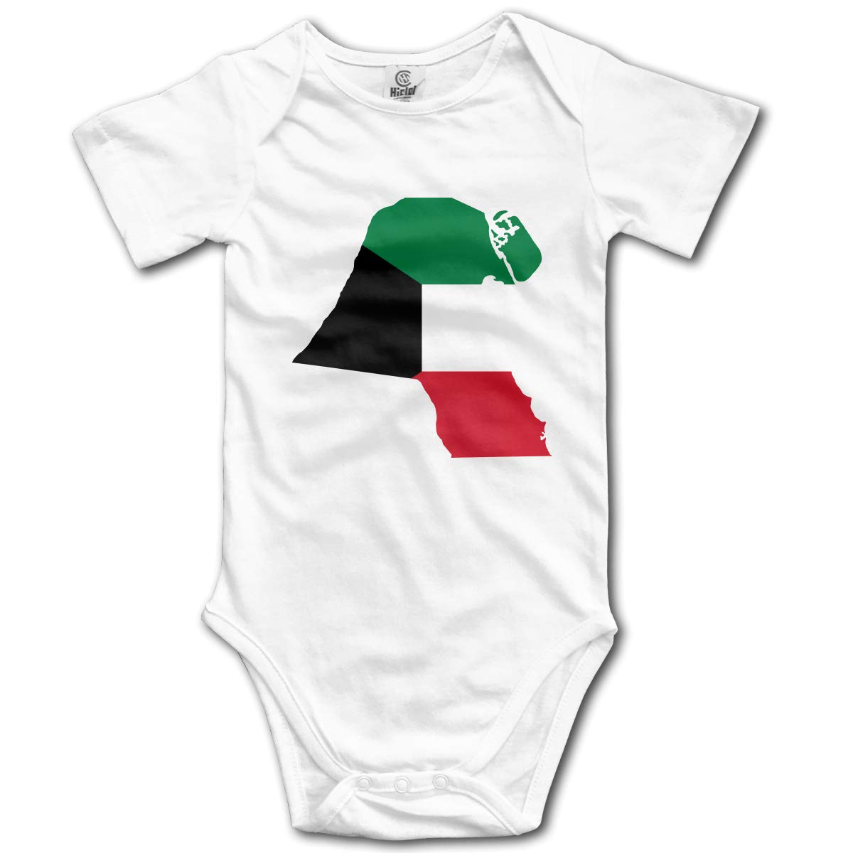 CUTEDWARF Baby Short-Sleeve Onesies Kuwait Flag Map Bodysuit Baby Outfits