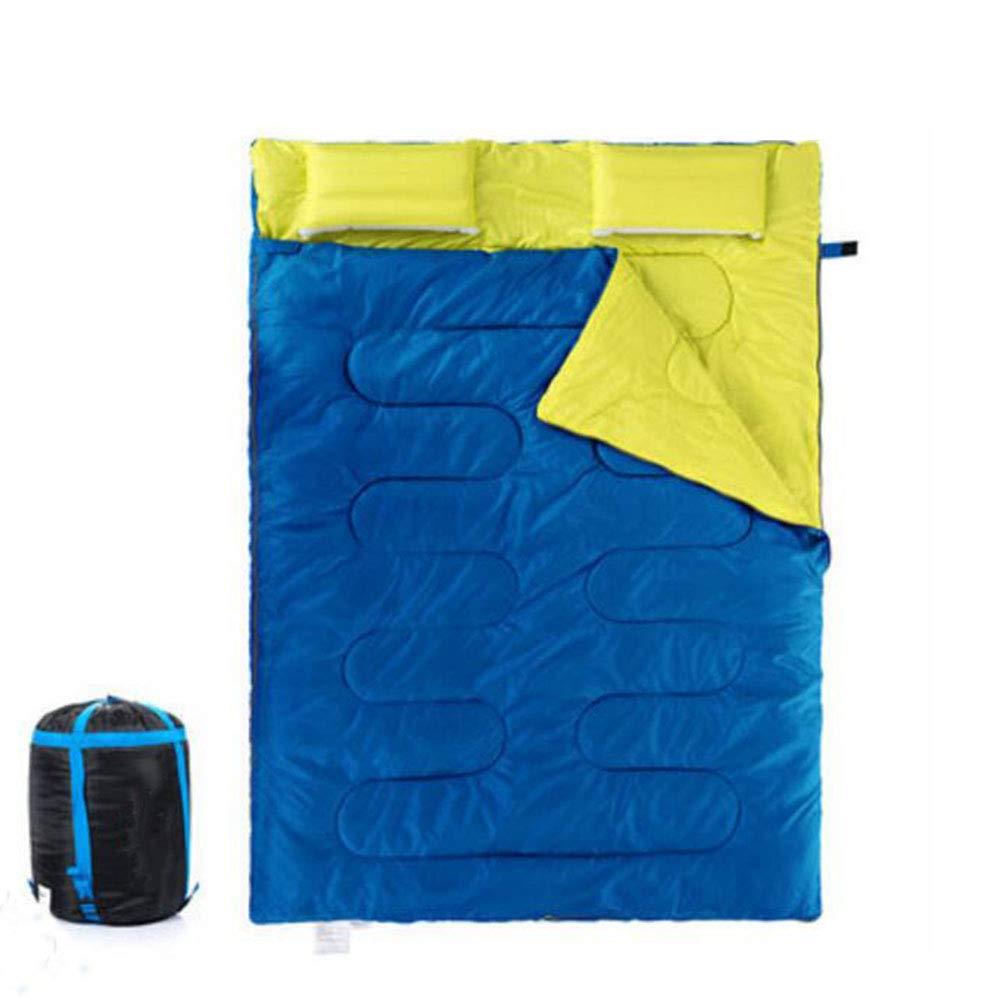 Jcnfa-saco de dormir Doble Al Aire Libre Almohada Inflable Otoño E Invierno Tienda De Campaña, 2.4kg. (Color : C, Tamaño : 215 * 145cm): Amazon.es: Jardín