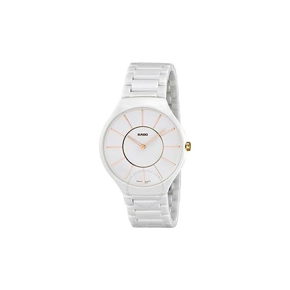 f8d24e330 Rado True Thinline Ceramic R27957102 38 Ceramic Case White Ceramic Women's  Quartz Watch: Rado: Amazon.ca: Watches