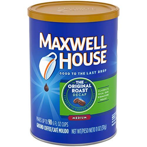 Maxwell House Original Decaf Medium Roast Ground Coffee (11 oz Tin, Pack of ()