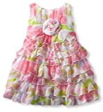 517MZp3ajOL. SL160  Biscotti Baby Girls Infant Garden Path Tier Dress, Pink, 18 Months