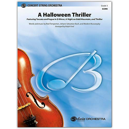 A Halloween Thriller Conductor Score 3 Pack of 3 ()