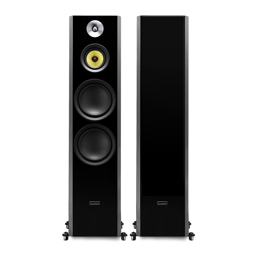 Fluance Signature Series Hi Fi Three Way Floorstanding Infrasonic And Ultrasonic Filter For High Fidelity Audio System Tower Speakers With Dual 8 Woofers Hff Home Theater