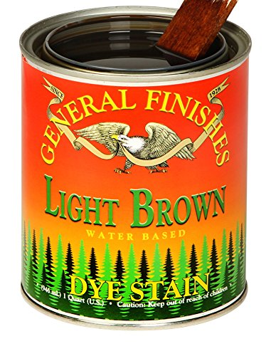 (General Finishes DPL Water Based Dye, 1 Pint, Light Brown)