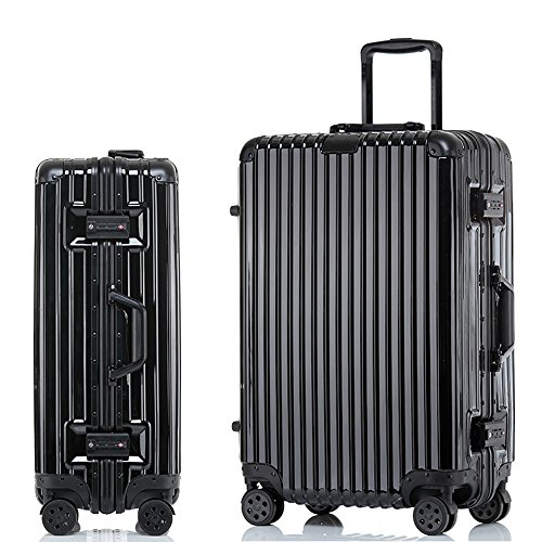 Sondre ABS Trolley case Rolling Suitcase 4-Wheel Upright Expandable Spinner Carry Ons Luggage