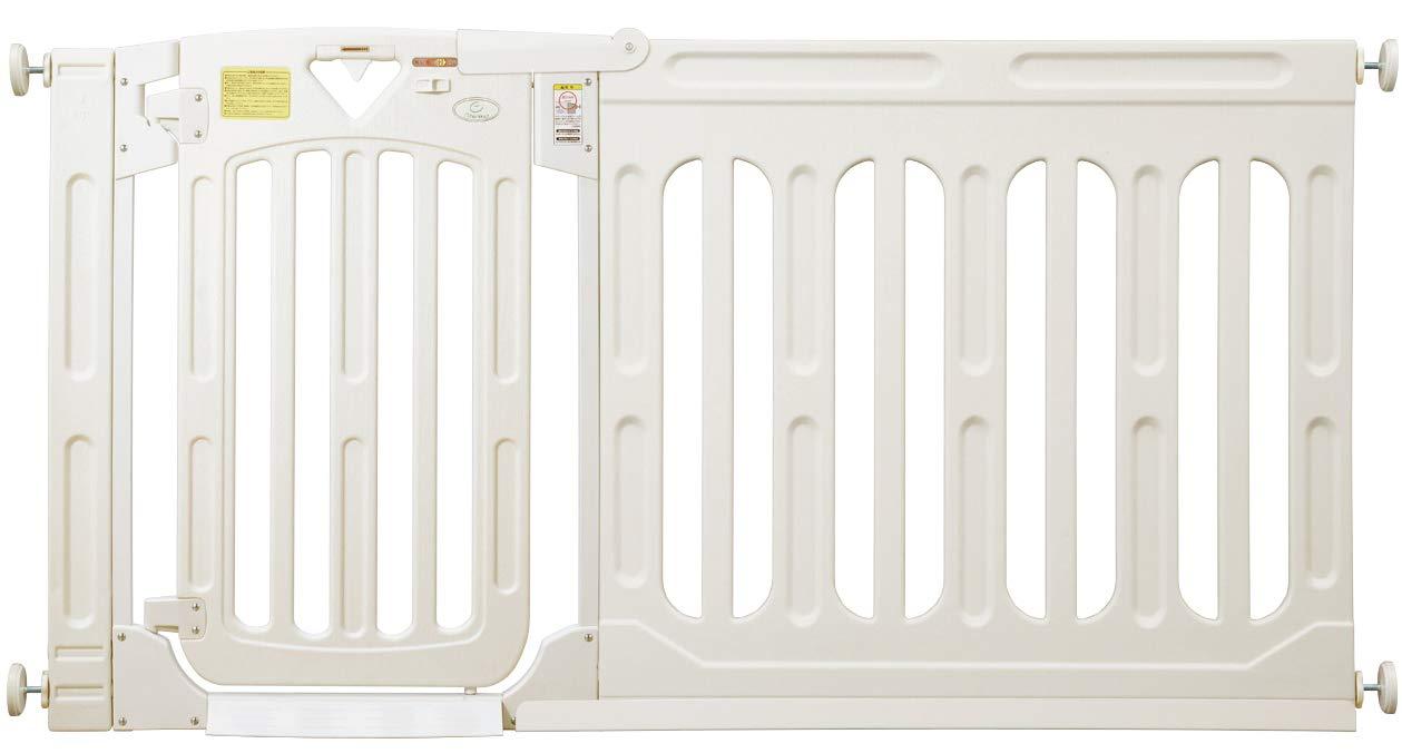 日本育児 スマートゲイトⅡ ミルキー + ワイドパネルミルキー XLサイズセット 【取付け幅163~187cm対応】   B07HR6HNC4