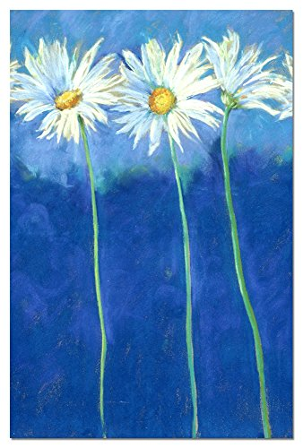 (Daises on Blue Blank Boxed Note Cards with Envelopes, All Occasion (12 Count), Cute Floral Notecards for Flower Lovers, FS66585 Tree-Free Greetings)