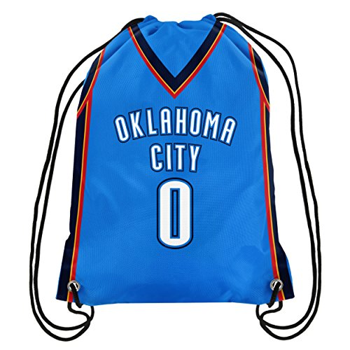Nba Oklahoma City Thunder Russell Westbrook  0 Double Sided Drawstring Backpack