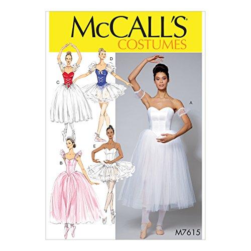 Ballerina Costumes Pattern - McCall's Patterns M7615E50 Ballerina Costume Sewing