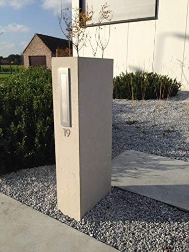 Mosaici Guizzo Numero civico in Acciaio/_Altezza 15 cm