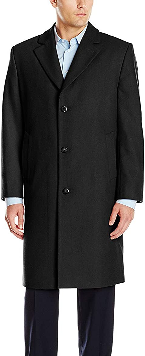LONDON FOG Mens Coventry Wool Top Coat